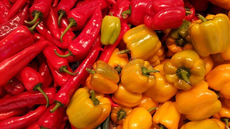 Πιπέρια στην αγορά στοκ φωτογραφίες