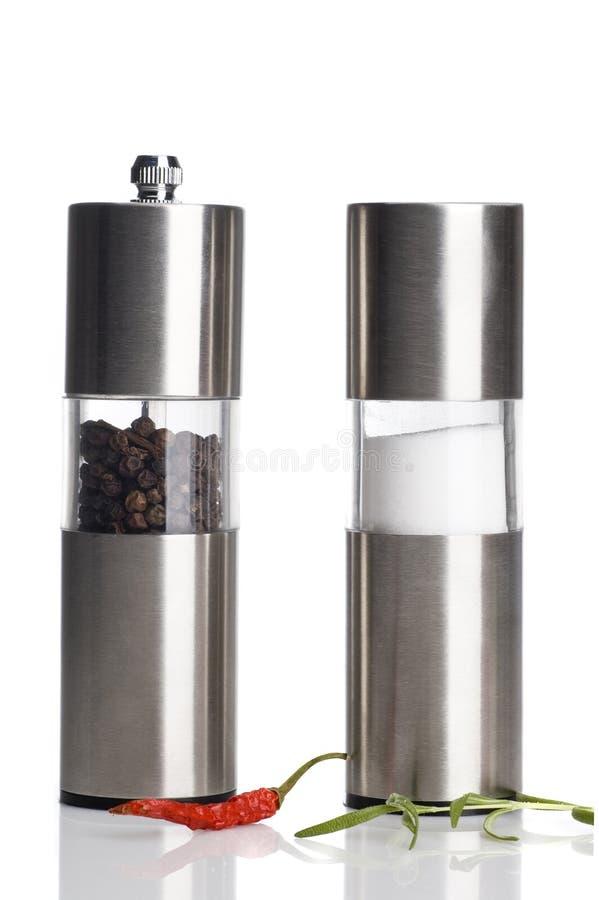 Πιπέρι και αλατισμένο δοχείο στοκ εικόνα με δικαίωμα ελεύθερης χρήσης