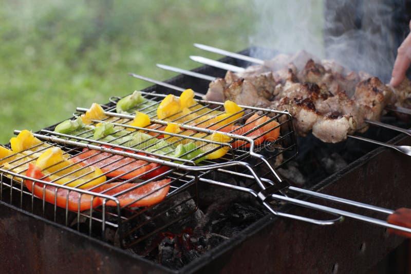 Πιπέρι με το κρέας στοκ εικόνες
