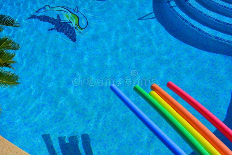 Πισίνα άνωθεν, κανένας άνθρωπος στοκ εικόνες