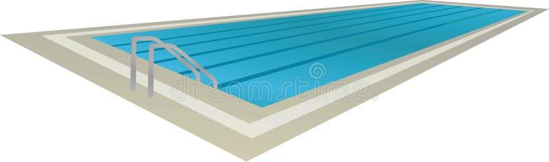 Πισίνα, άποψη προοπτικής διανυσματική απεικόνιση