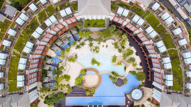 Πισίνα ξενοδοχείων σκληρής ροκ στοκ εικόνες με δικαίωμα ελεύθερης χρήσης