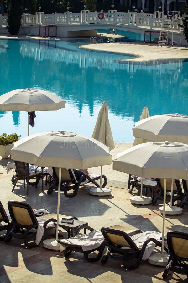 Πισίνα ξενοδοχείων στοκ φωτογραφίες
