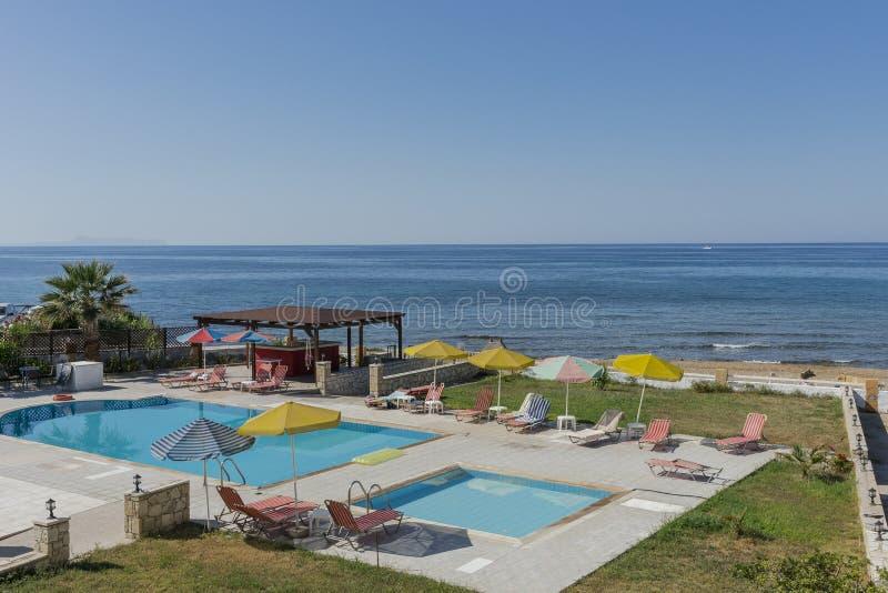 Πισίνα στην Κρήτη στοκ εικόνες
