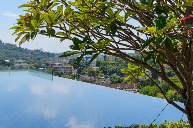 Πισίνα στη τοπ στέγη στοκ φωτογραφίες