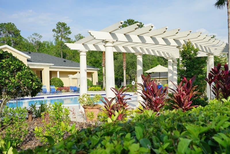 Πισίνα στη Φλώριδα στοκ εικόνα με δικαίωμα ελεύθερης χρήσης