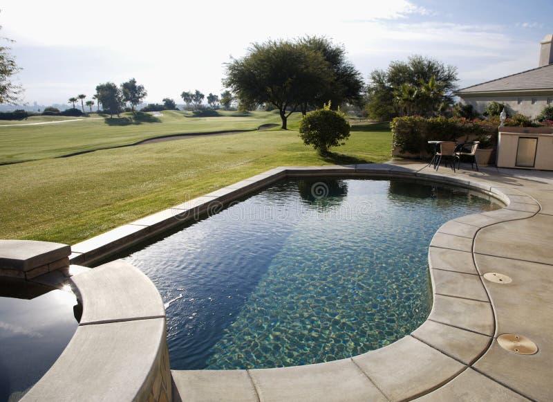 Πισίνα, Flagstone Spa στοκ φωτογραφία με δικαίωμα ελεύθερης χρήσης
