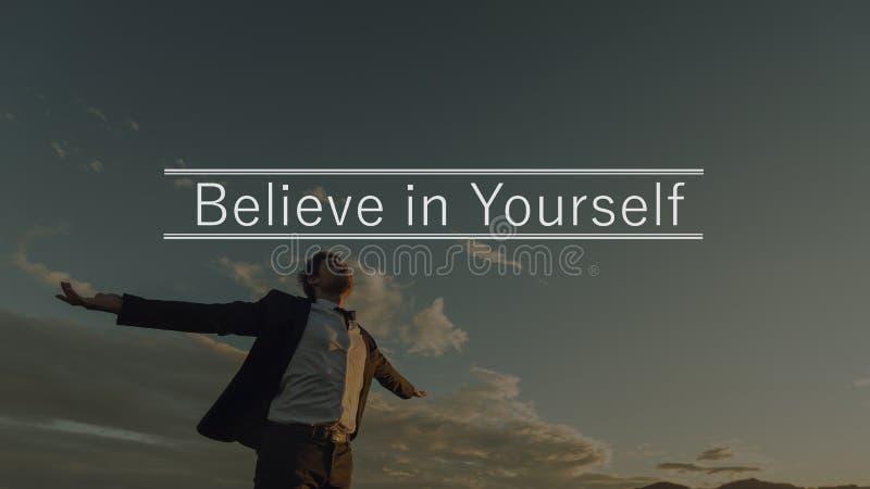 Πιστεψτε σε σας στοκ φωτογραφίες