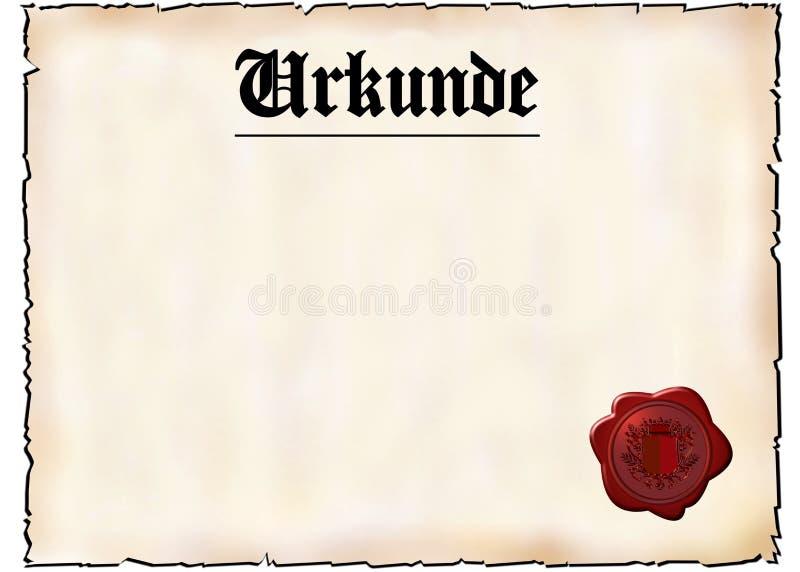 πιστοποιητικό γερμανικά διανυσματική απεικόνιση