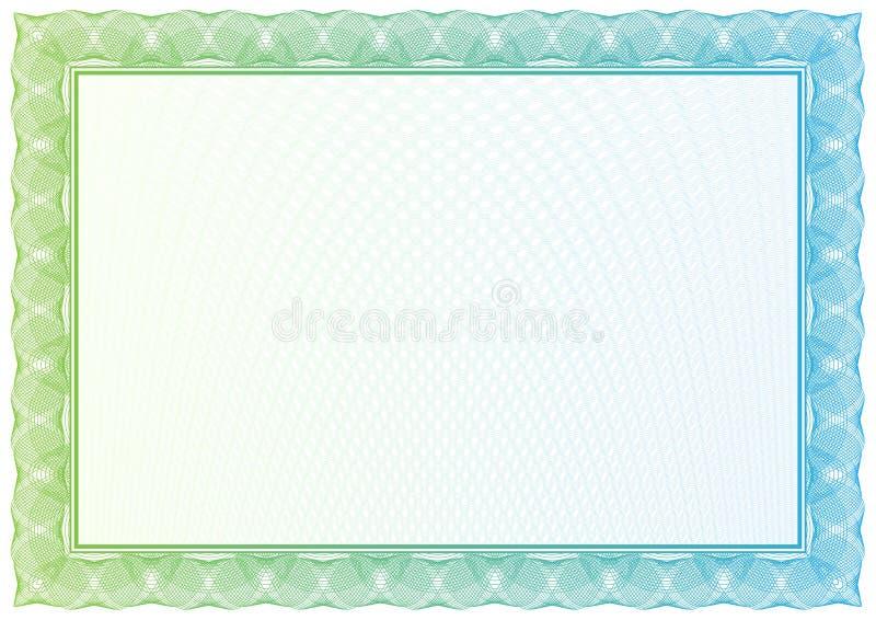 Πιστοποιητικό. Διανυσματικό σχέδιο για το νόμισμα, διπλώματα διανυσματική απεικόνιση