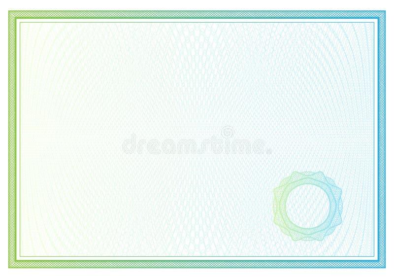 Πιστοποιητικό. Διανυσματικό σχέδιο για το νόμισμα, διπλώματα ελεύθερη απεικόνιση δικαιώματος