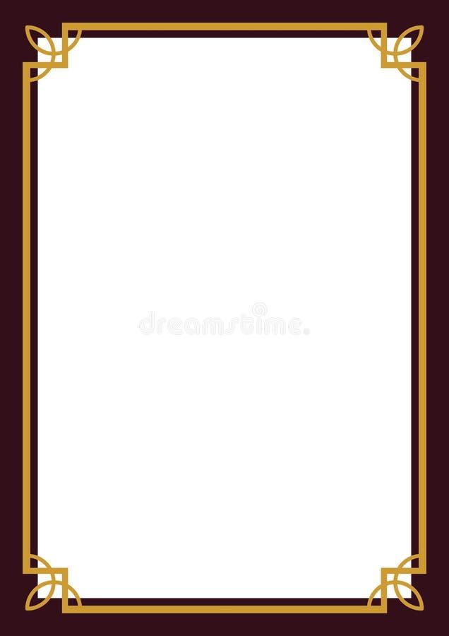 πιστοποιητικό συνόρων ελεύθερη απεικόνιση δικαιώματος
