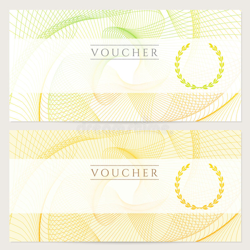 Πιστοποιητικό δώρων (απόδειξη, εισιτήριο, δελτίο). Χρώμα απεικόνιση αποθεμάτων