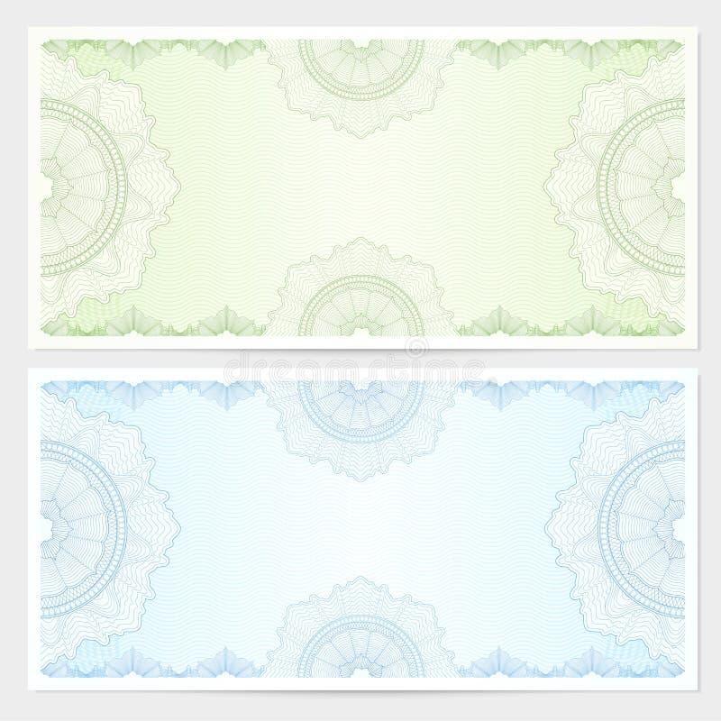 Πιστοποιητικό δώρων, απόδειξη, πρότυπο δελτίων απεικόνιση αποθεμάτων