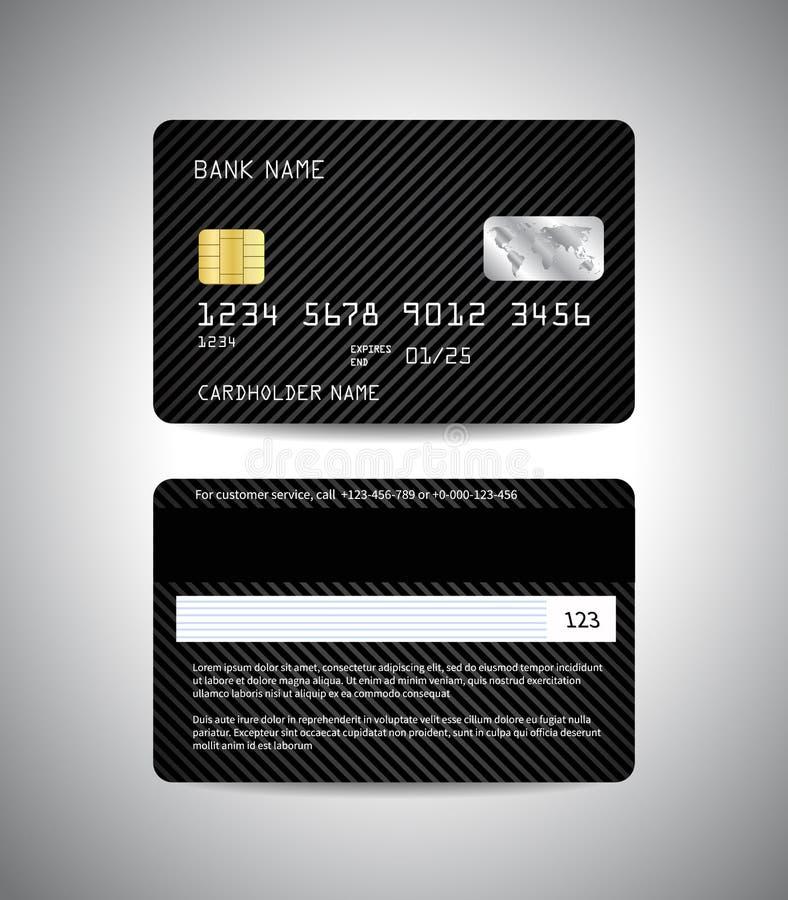 Πιστωτικές κάρτες που τίθενται με το μαύρο ριγωτό υπόβαθρο ελεύθερη απεικόνιση δικαιώματος