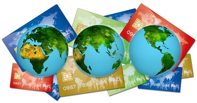 Πιστωτικές κάρτες τράπεζας απεικόνιση αποθεμάτων