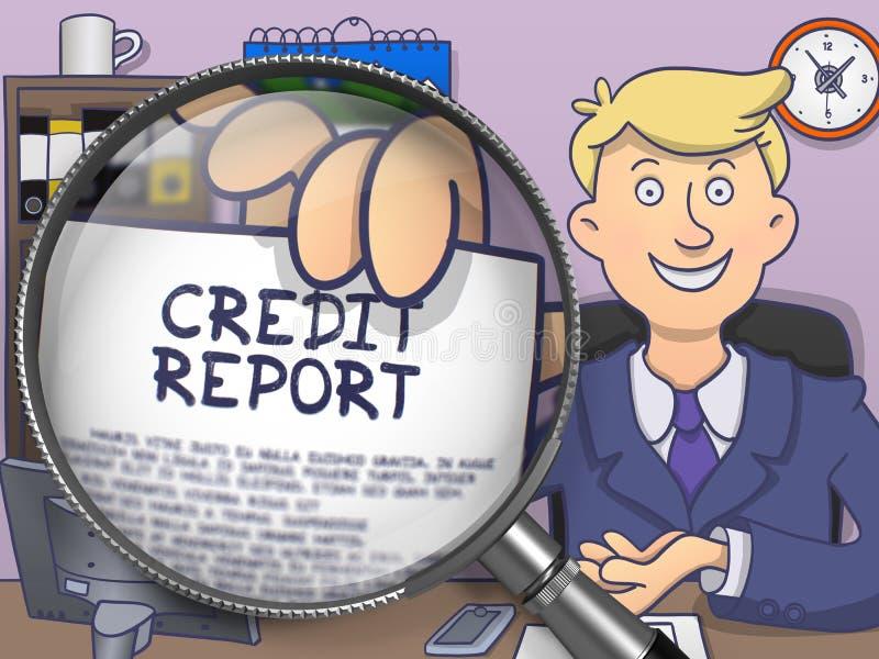 Πιστωτική έκθεση μέσω του φακού Σχέδιο Doodle ελεύθερη απεικόνιση δικαιώματος