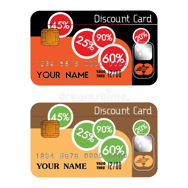 πιστωτική έκπτωση καρτών απεικόνιση αποθεμάτων