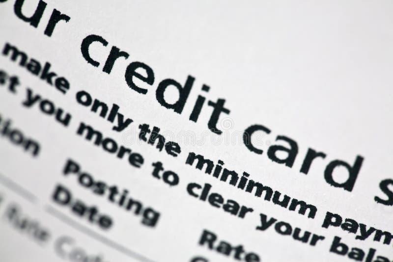πιστωτική δήλωση καρτών στοκ φωτογραφία με δικαίωμα ελεύθερης χρήσης