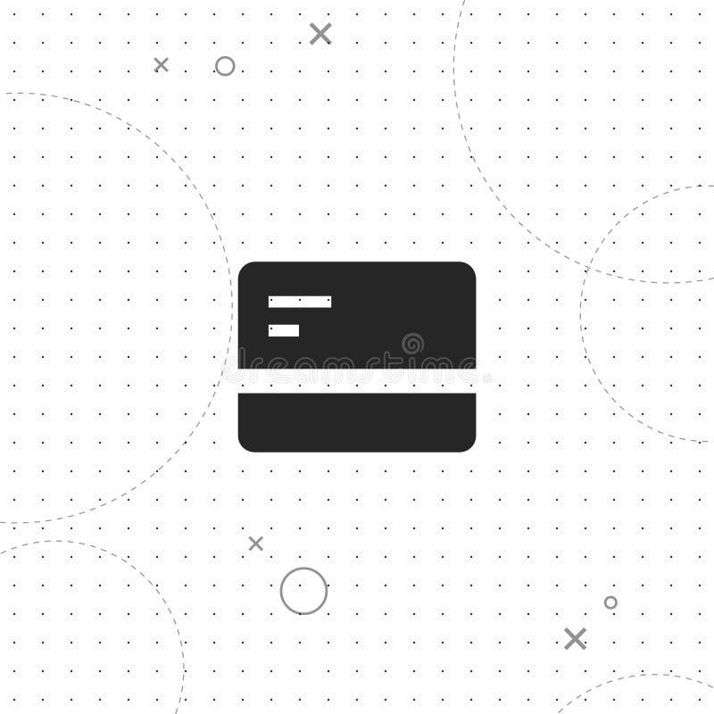 Πιστωτική κάρτα, διανυσματικό καλύτερο επίπεδο εικονίδιο ελεύθερη απεικόνιση δικαιώματος