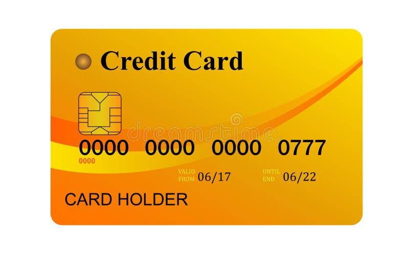 Πιστωτική κάρτα που απομονώνεται σε άσπρο background στοκ εικόνες με δικαίωμα ελεύθερης χρήσης