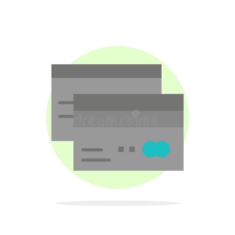 Πιστωτική κάρτα, τραπεζικές εργασίες, κάρτα, κάρτες, πίστωση, χρηματοδότηση, χρημάτων αφηρημένο κύκλων εικονίδιο χρώματος υποβάθρ ελεύθερη απεικόνιση δικαιώματος