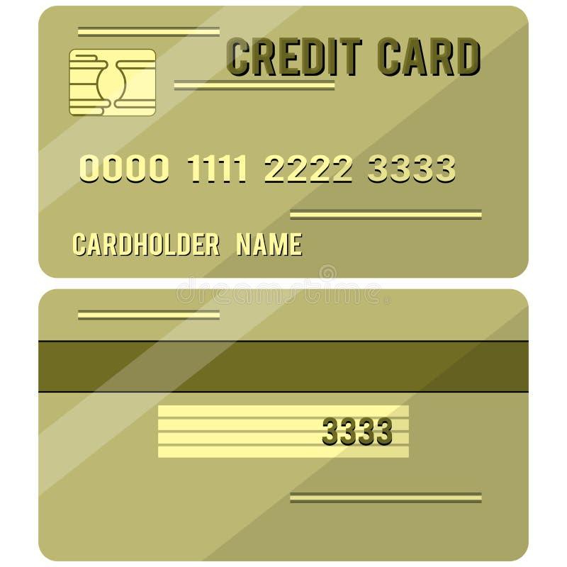 Πιστωτική κάρτα δύο πλευρές στοκ εικόνα