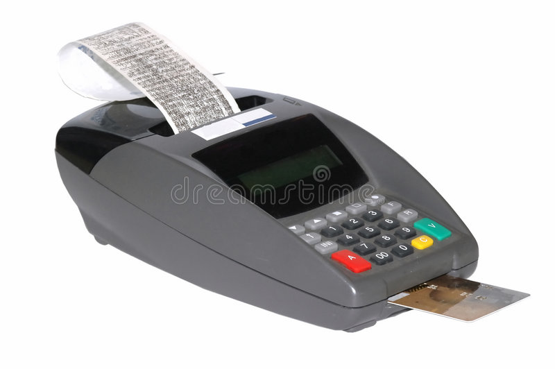 πιστωτική μηχανή καρτών στοκ φωτογραφία