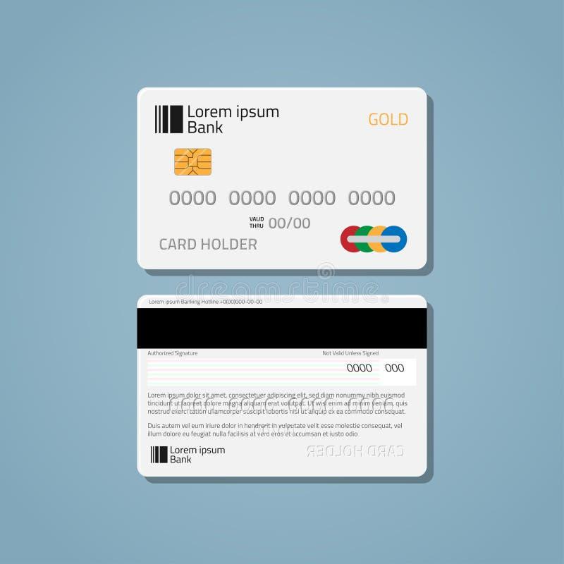 Πιστωτική χρεωστική κάρτα τράπεζας απεικόνιση αποθεμάτων
