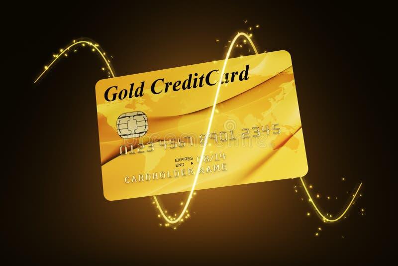 Download πιστωτικός χρυσός καρτών απεικόνιση αποθεμάτων. εικονογραφία από τσιπ - 13180024