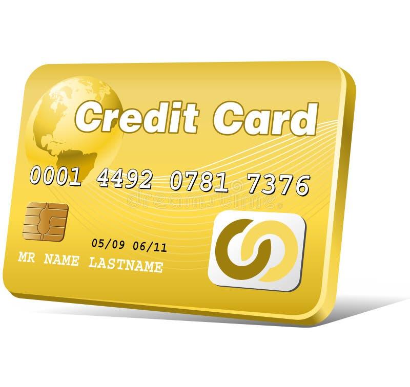 πιστωτικός χρυσός καρτών απεικόνιση αποθεμάτων