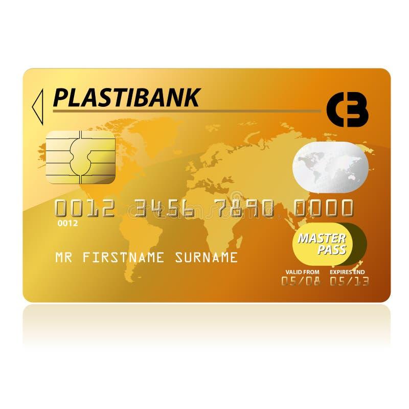 πιστωτικός χρυσός καρτών ελεύθερη απεικόνιση δικαιώματος