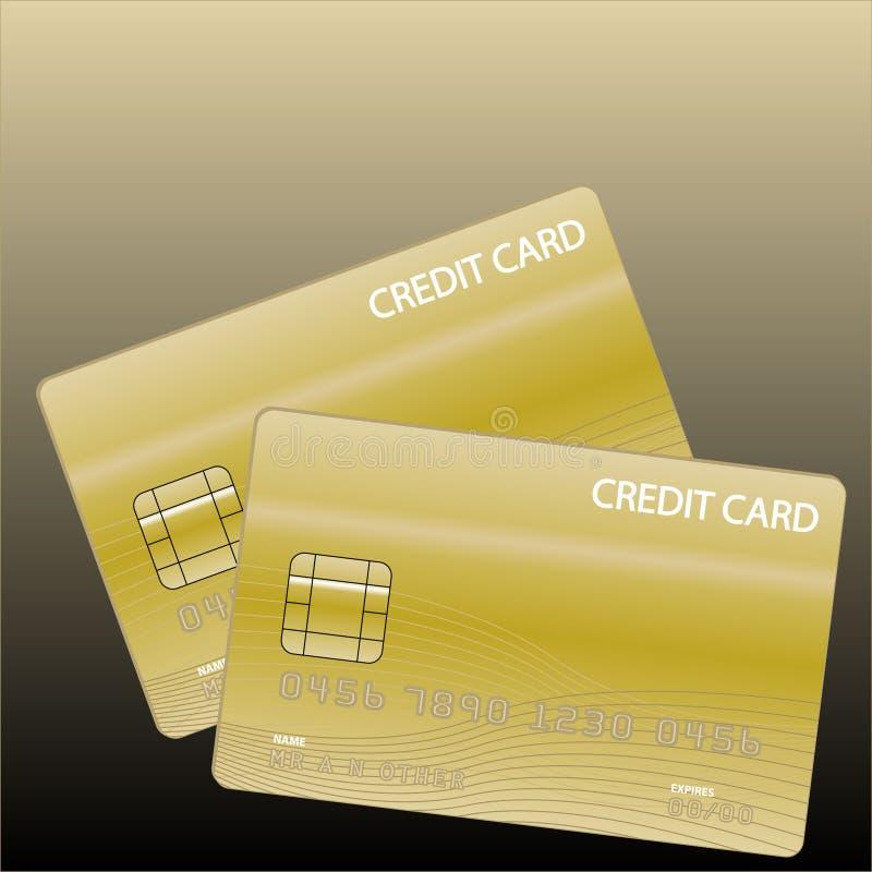 πιστωτικός χρυσός καρτών διανυσματική απεικόνιση