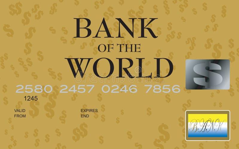 πιστωτικό δολάριο καρτών απεικόνιση αποθεμάτων