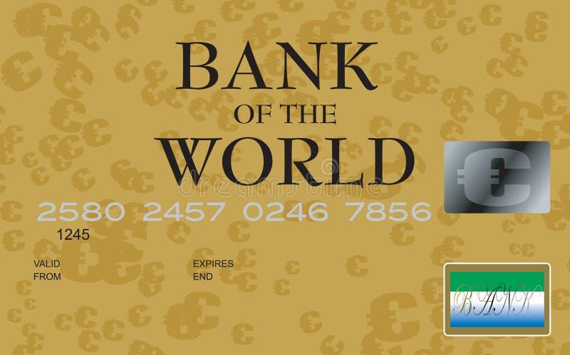 πιστωτικό ευρώ καρτών διανυσματική απεικόνιση