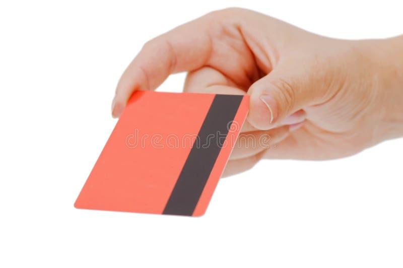 πιστωτικό θηλυκό χέρι καρτώ στοκ εικόνες με δικαίωμα ελεύθερης χρήσης