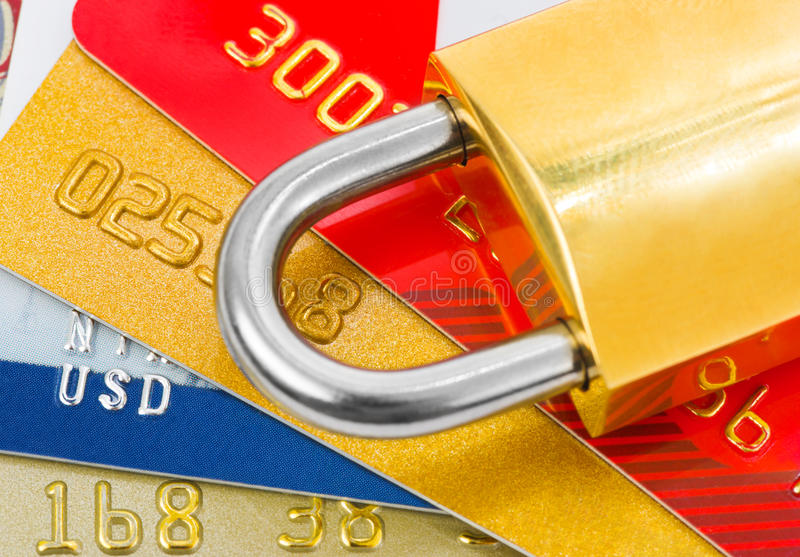 Download πιστωτικό κλείδωμα καρτών στοκ εικόνες. εικόνα από αποχής - 13177716