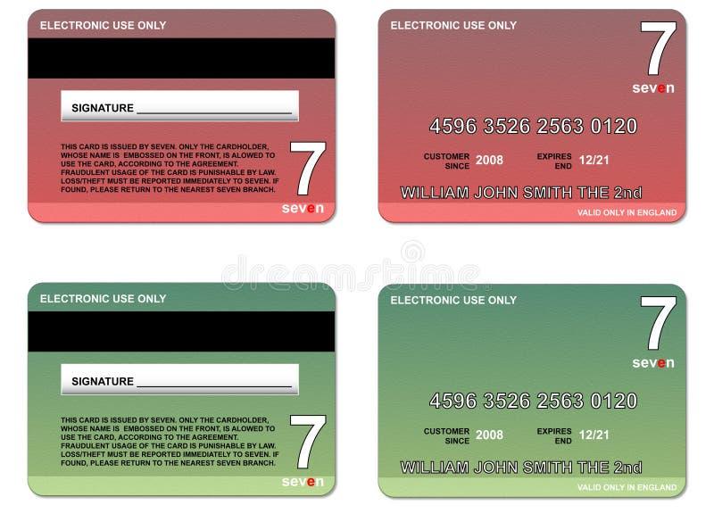 πιστωτικό πράσινο κόκκινο &k απεικόνιση αποθεμάτων