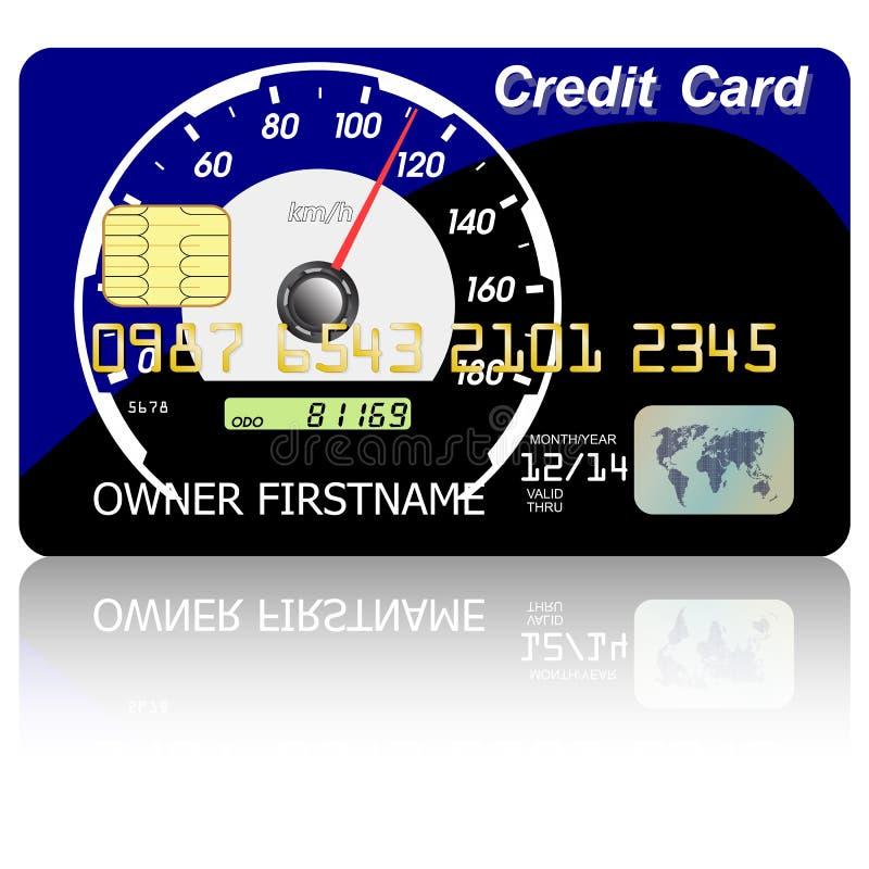 πιστωτικό ταχύμετρο καρτών ελεύθερη απεικόνιση δικαιώματος