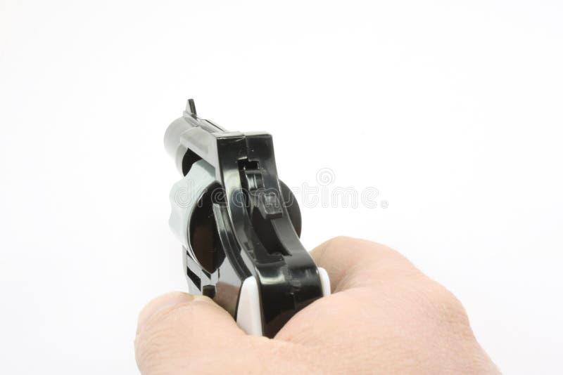 πιστόλι που δείχνεται στοκ εικόνες