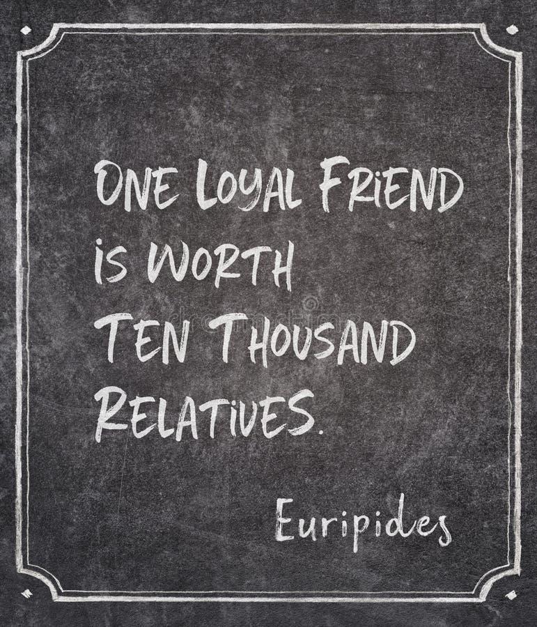 Πιστό απόσπασμα Euripides φίλων στοκ εικόνες