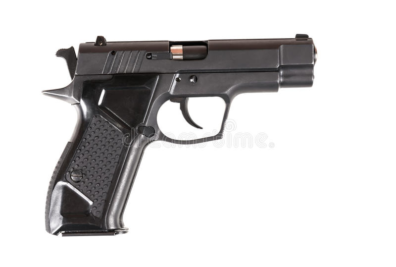 Πιστόλι που απομονώνεται στο άσπρο υπόβαθρο στοκ εικόνες