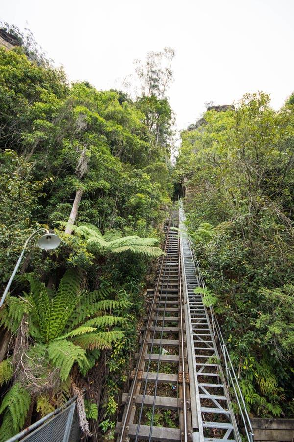 Πιό απότομος σιδηρόδρομος στον κόσμο στοκ φωτογραφίες
