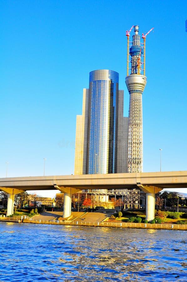 πιό ψηλός πύργος κατασκε&upsil στοκ εικόνες