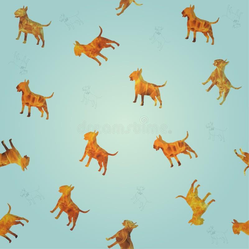 πιό bullterrier άνευ ραφής σύσταση σκυλιών πυρκαγιάς στοκ φωτογραφίες με δικαίωμα ελεύθερης χρήσης