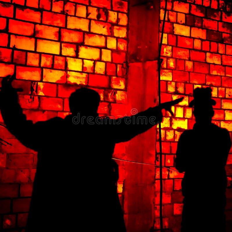 Πιό gogolfest κόκκινο υπόβαθρο τέχνης promzone δύο σκιών στοκ εικόνες
