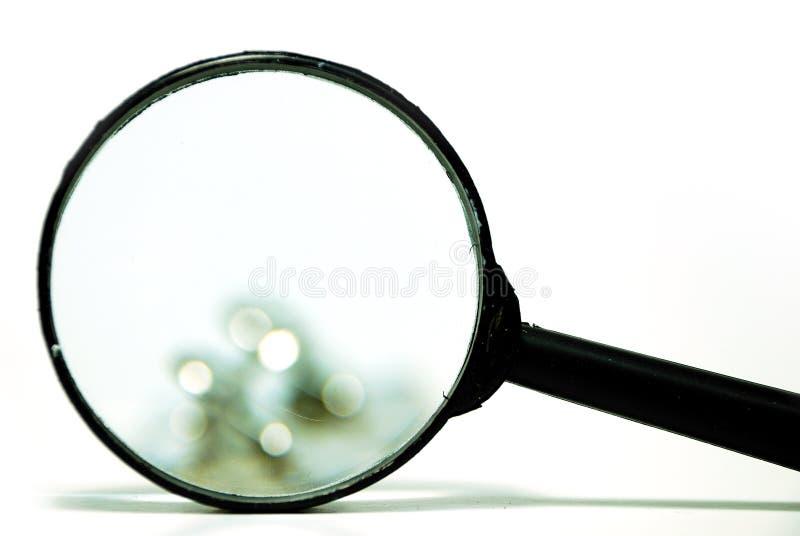 πιό magnifier στοκ φωτογραφίες