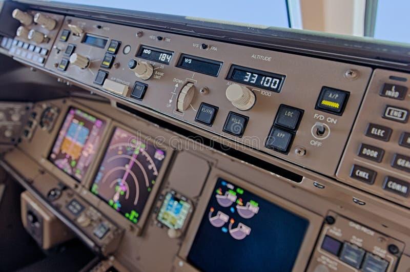 Πιλοτήριο αεροπλάνων στοκ φωτογραφία με δικαίωμα ελεύθερης χρήσης