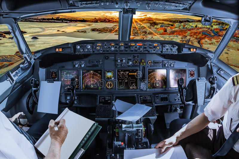 Πιλοτήριο στον κόλπο των πυρκαγιών στοκ εικόνα με δικαίωμα ελεύθερης χρήσης