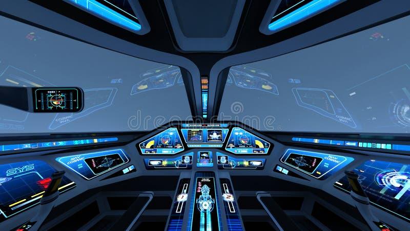 πιλοτήριο διανυσματική απεικόνιση